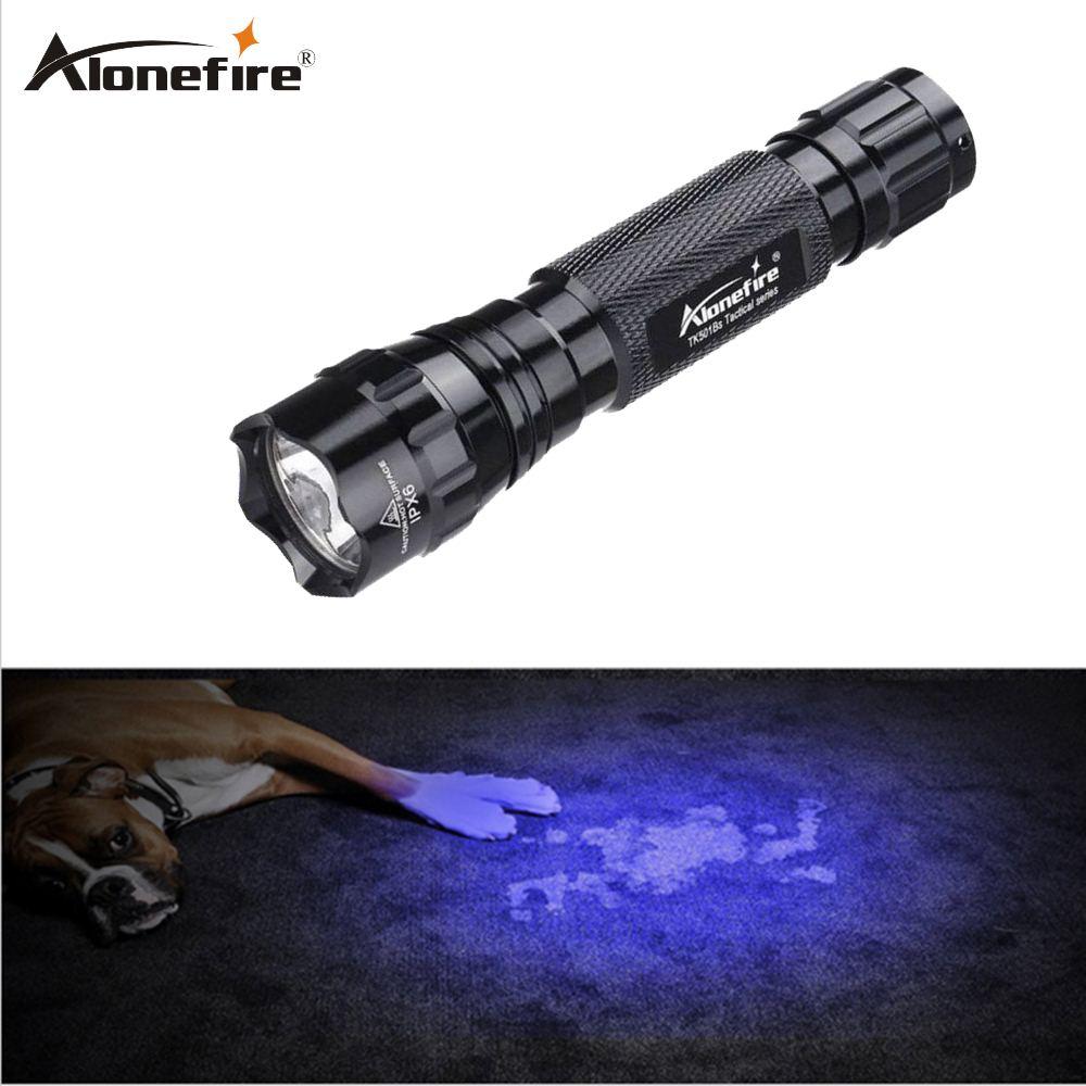 AloneFire 501B UV lamp light Handgun 395-400nm uv Flashlights Torch Light Handheld
