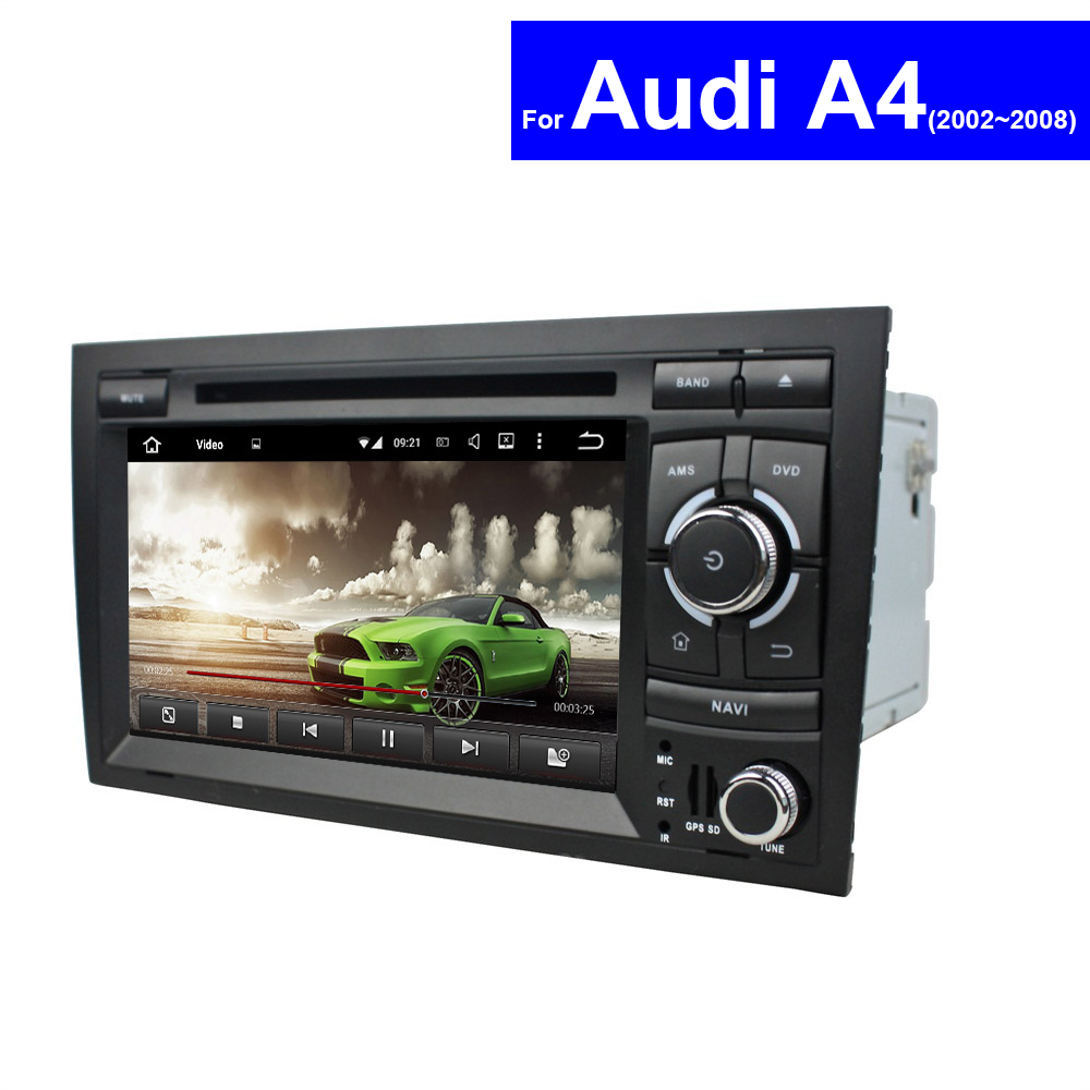 2 Din 7 inch Android Touch Screen Car Stereo for Audi A4 DVD Player GPS Navigation System 3G WIFI CD AUX USB SD TV MP3 Autoradio