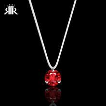 0c84665222ce RIR deslumbrante de piedra de circón Invisible collar transparente línea de  pesca de circón rojo mujeres gargantilla collares co.