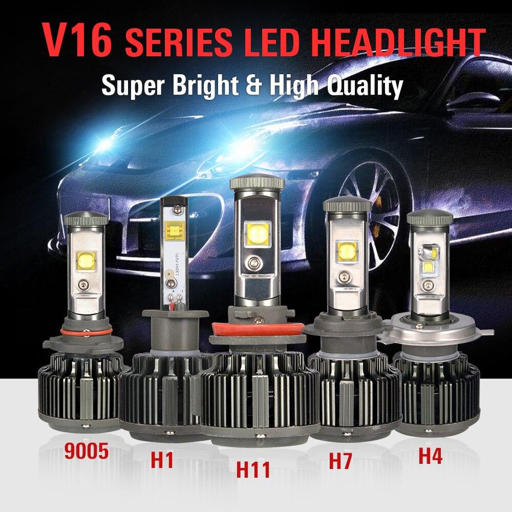 Автомобильные фары H1 H4 H7 H11 9005 70W 7200lm автомобильные лампы фары
