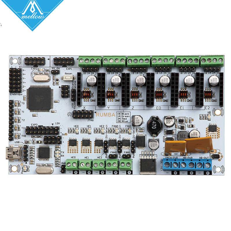 3D Drucker Diamant Hotend Messing Multi Farbe Düse Control Kits Mutter Rumba Board Mit 6 stücke DRV8825 Stepper Fahrer und kühlkörper