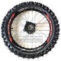 Передние 14 дюймов колеса Велосипеда Ямы GuangLi 60/100-14 Шин Черный Алюминиевый Сплав колесные диски с 32 отверстий говорил KTM CRF PRO KLX YZF 110cc