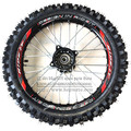 Frente de 14 polegadas rodas Pit Bike GuangLi 60/100-14 Pneu Preto Liga de Alumínio jantes com 32 furos falou KTM CRF PRÓ 110cc KLX YZF