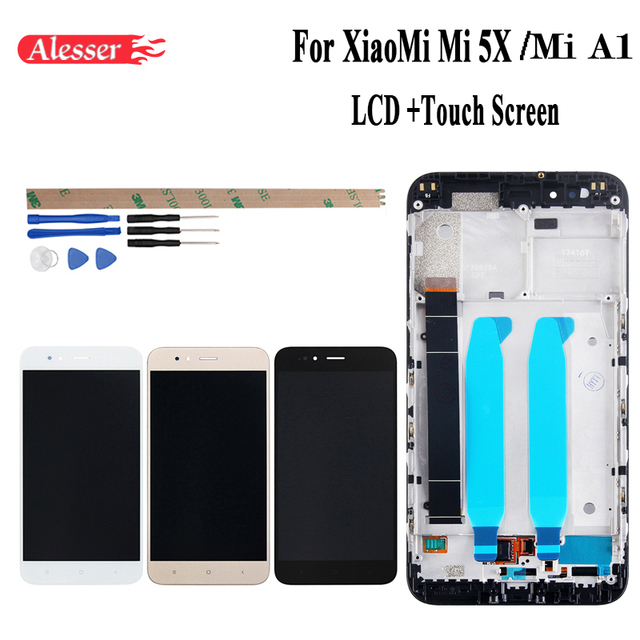 Alesser For XiaoMi Mi A1 Mi 5X LCD Display and Touch Screen+Frame Assembly Repair Parts 5.5 Replacement Phone Accessory +Tools