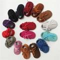 2017 Más Nuevo de Primavera/Otoño de Cuero Genuino con cordones Mocasines Bebé Bebe Chaussures Botas De Gamuza Bebé Primeros Caminante Del Bebé zapatos