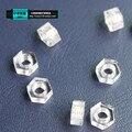 Шесть пластиковые гайка колпачковая гайка нейлон цвет диаметр шнека M3M4M5M6M10 пластиковый материал ПК