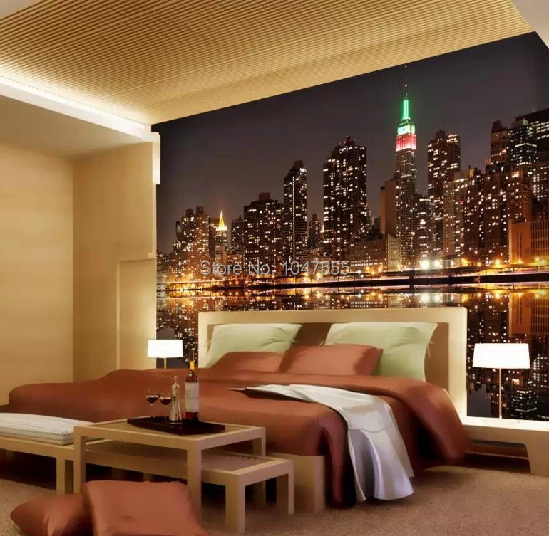 Online Shop D Wallpaper Bright City Lights Dim Night TV KTV Bar - City lights wallpaper for bedroom