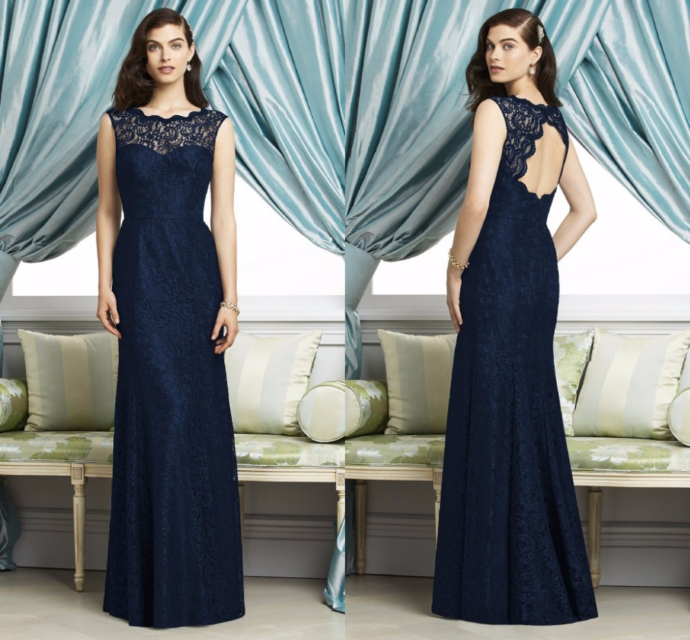 Navy Blue Dresses for Wedding Guests