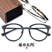 TARO FUJII Spectacle Frame Eyeglasses Women Men Retro Oval Acetate Computer Optical Clear Lens Glasses Male FT3170