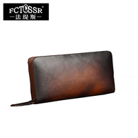 Genuine Leather Women Wallet New Arrival Retro Cow Leather Female Long Style Purse Women Clutches Card