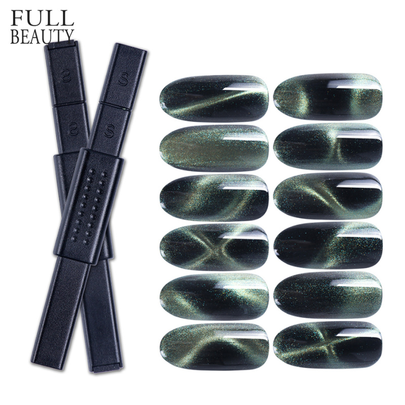 Multi-funcation Nail Magnet Cat Eye 3D Magic Strong Magnetic Nail Stick For Gel Nail Polish DIY Painting Manicure Tool CH948