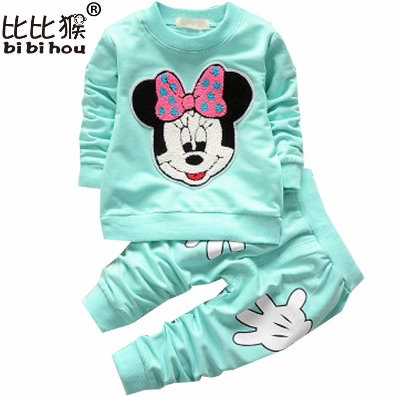 Baby Clothing suit  Cartoon Children's Sports Suit long sleeve Cotton Casual Track suits Kids Clothes girls winter clothes 2017 new boys clothing set camouflage 3 9t boy sports suits kids clothes suit cotton boys tracksuit teenage costume long sleeve