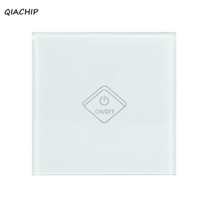 QIACHIP WiFi Smart Home UK For APP Control Touch Switch Work With Amazon Alexa Timing Voice Remote Control Switch Light Wall H3 smart home uk standard crystal glass panel wireless remote control 1 gang 1 way wall touch switch screen light switch ac 220v