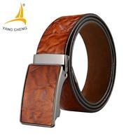 CNYANGCHENG 3 5cm Hot Sale Men Belts Luxury Genuine Leather Designer High Quality Belt Man