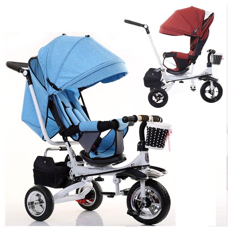 Obrotowe siedzisko wózka dziecięcego 3 w 1 składany
