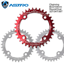 ASTRO single speed 1x system Narrow Wide chainring 104BCD Round Oval 32T 34T 36T for MTB 11s 10s 9s 1*11Crankset Chainwheel Ring 1pcs fouriers ct dx011 bike bicycle chain guards chain guide iscg03 iscg05 for mtb 1 system 1 9s 1 10s 1 11s 28t 30t 32t