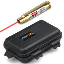 Discount! Cal: 8MM Brass Red Laser Cartridge Bore Sight Boresighter Laser Pointer + VERY100 Waterproof Case