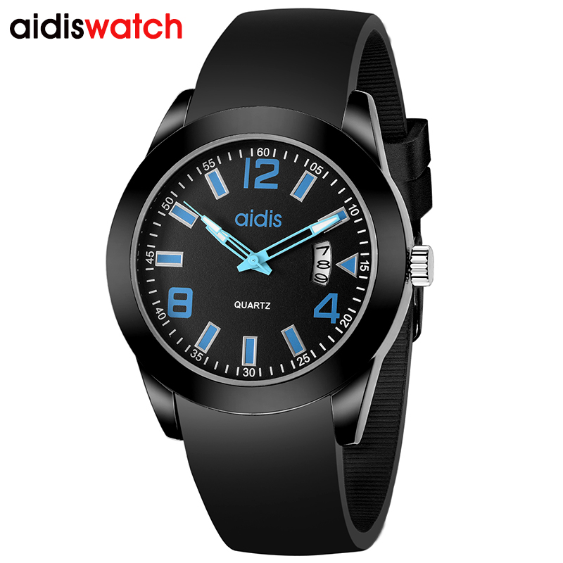 Watch Women Aidis brand Fashion Casual quartz watch Men watches Montre Femme Reloj Mujer Silicone Waterproof Sport Wristwatches kids watches children silicone wristwatches doraemon brand quartz wrist watch baby for girls boys fashion casual reloj