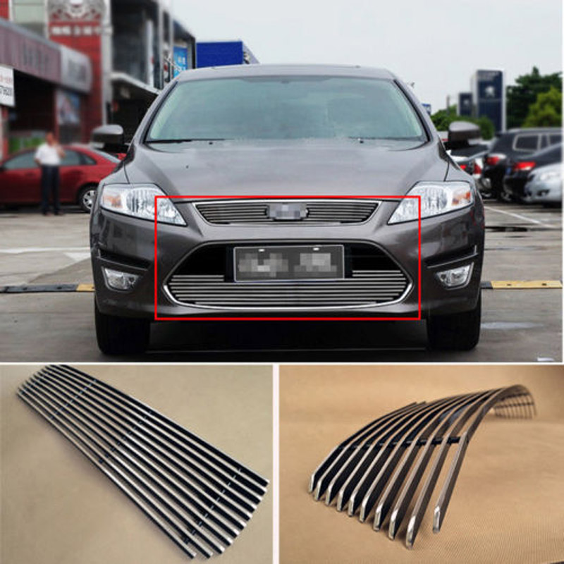 Alloy Aluminium Front Center Racing Mesh Bumper Grills Billet Grille Cover For Ford Mondeo 2011