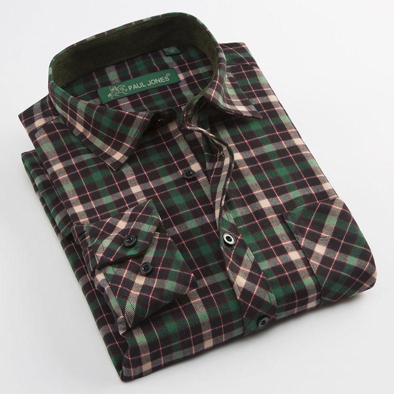 MACROSEA New Men's Casual Shirts Male Plaid Long Sleeve Square Collar Social Shirt Full Men's Shirts PJ