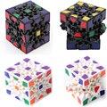 Las Novedades-cubo 6 cm 3x3x3 Cubo Mágico de Engranajes 3D Puzzle Cubos Edu Negro blanco y 2 Colores