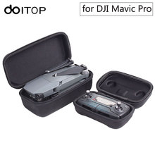 DOITOP 2 en 1 Caja de Almacenamiento de Bolsas para DJI Drone Mavic Pro & Transmisor Controlador Durable Portable Caso de Cáscara Duro Para Mavic Pro