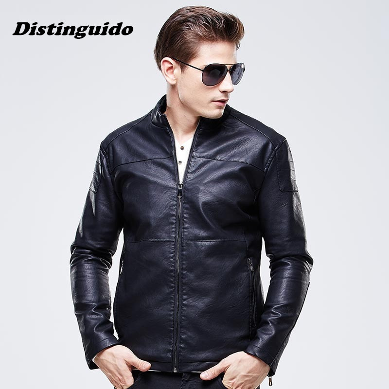 Men Spring Autumn Motorcycle Leather Jackets Male Casual Jacket Coats Brand Men Clothing MJK020