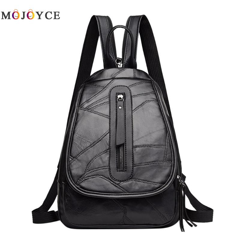 Preppy Girls Teenager Pu Leather Backpack Travel School Casual Pure Color Shoulder Women Backpack Mochila Feminina