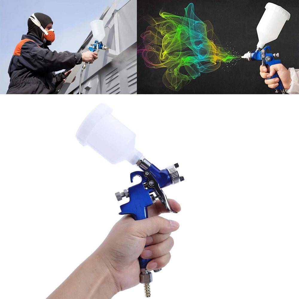 H-2000 Mini Hvlp Pistola 0.8 milímetros 1.0 milímetros Bico de Aço Conjunto Pintura DIY Kits de Pintura de Pulverização Arma Airbrush Carro ferramenta de Reparação de automóveis