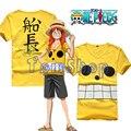 Anime One Piece Film Z Monkey D Luffy Capitão Cosplay traje Das Mulheres Dos Homens T-shirt Verão Tops Casual T Shirts Livre grátis