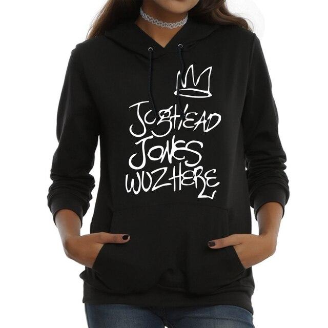 5a753a864b2 Riverdale Jughead Jones Wuz Here Female Women Hoodies Sweatshirts Hooded  Hoody Pullovers Fashion Casual TV Show Harajuku Shirt