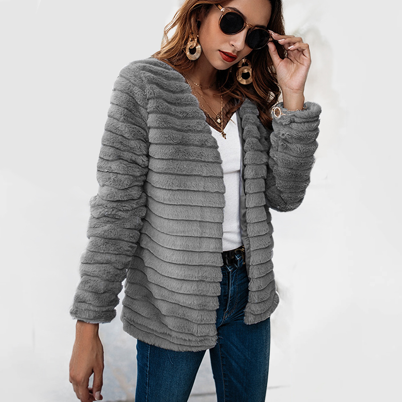 Autumn 2018 Winter   jacket   Women outwear & coats female Faux coats Women Loose Rabbit fur coat   basic     jackets   Womens   jacket