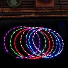 90cm LED Cahaya Hula Hoop Kinerja Hoop Olahraga Mainan Longgar Berat Anak