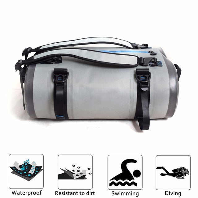e2de099a1c Large 40L 60L 90L Motorcycle Tail Bag Waterproof Backpack Dry Duffel Bag  Travel Bag for Scuba and Snorkeling Swimming Beach