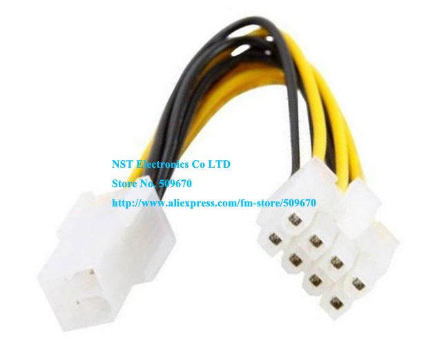 4Pin to 8 Pin EPS 12V ATX Motherboard Power Supply Adapter Converter Cable