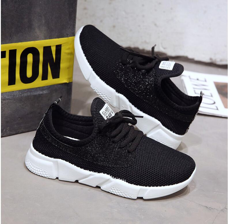 18 Summer Air Mesh Student Breathable Lace Up Outdoor Women Shoes Lightweight Woman Vulcanized Sneakers Shoes 3
