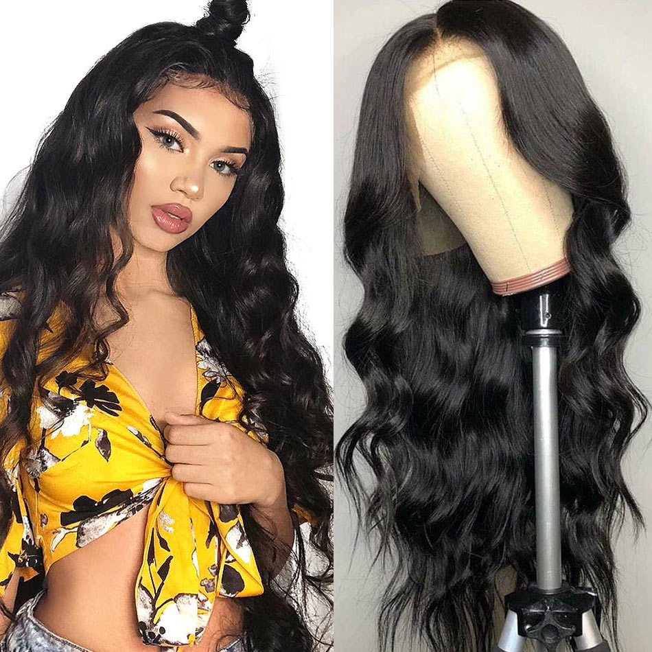 Alipretty Body Wave Wigs Peruvian Hair Pre Plucked Lace Front Human Hair Wigs For Black Women