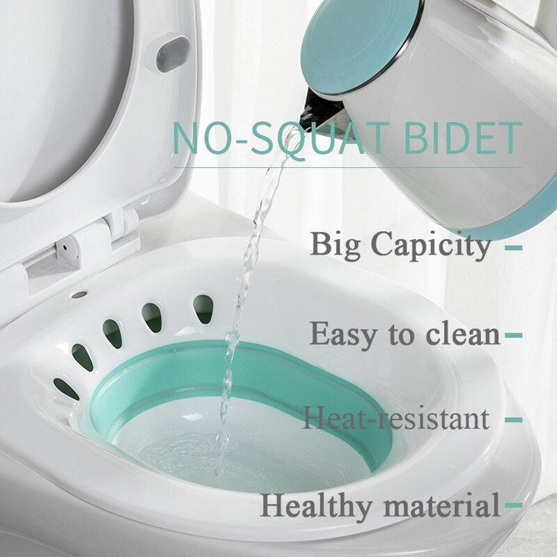 Folding Woman Bidet Sauna Hip Irrigator Perineum Soaking Bath Pregnant Bathtub For Bath Anal Shower Bath Wash Acne Basin Toilet