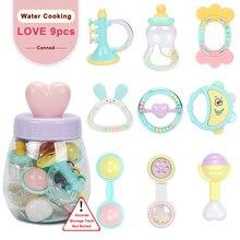 Купить с кэшбэком Baby Toys 9pcs 0-12 Months Rattles oyuncak Mobiles Rattle Bed Children Speelgoed Educational Toy Newborns Gift Beanbag For Girls