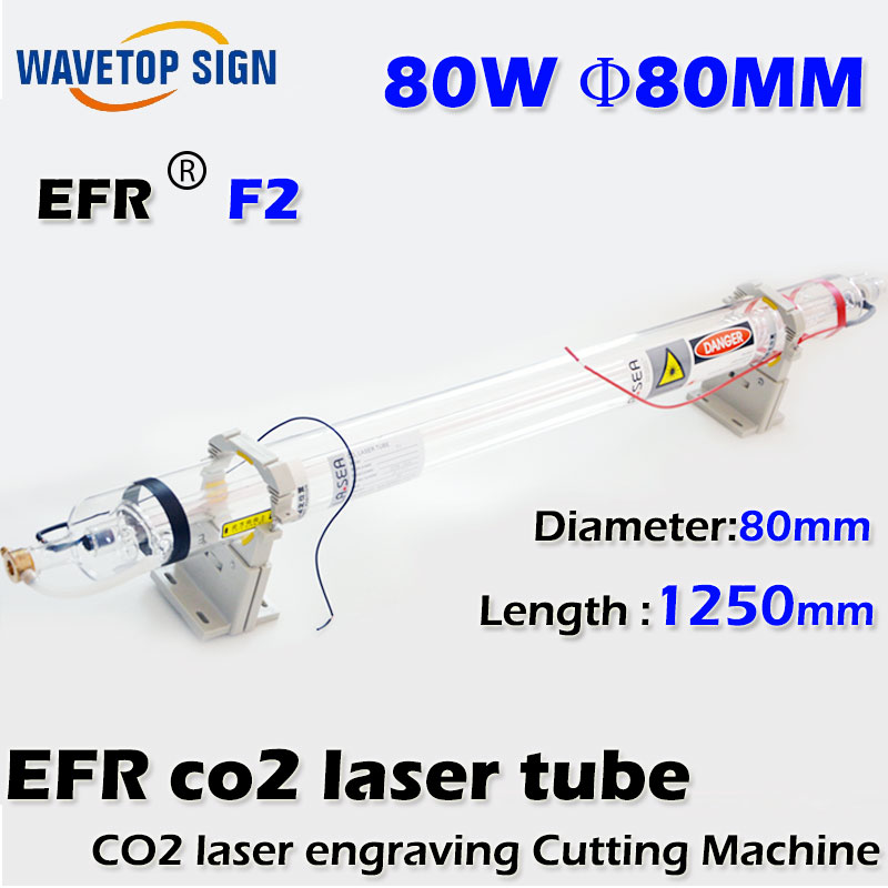 EFR Laser tube F2  80w  length 1250mm diameter 80mm halco roosta popper 80 r18 80mm 16g 0m f
