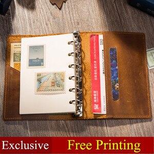 Image 2 - الجلود دفتر ملاحظات للسفر مجلة مذكرات اليدوية 100% Vintage الكلاسيكية غلاف فني مكتب القرطاسية دفتر الرسم A6 A7 A5