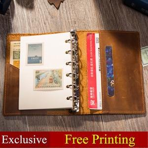 Image 2 - Lederen Travel Notebook Journal Dagboek Handgemaakte 100% Vintage Klassieke Hardcover Kantoor School Briefpapier Schetsboek A6 A7 A5