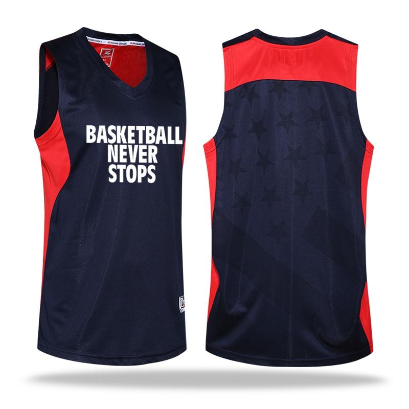 Reversible Kids Basketball Jerseys Uniforms Children Team Sport