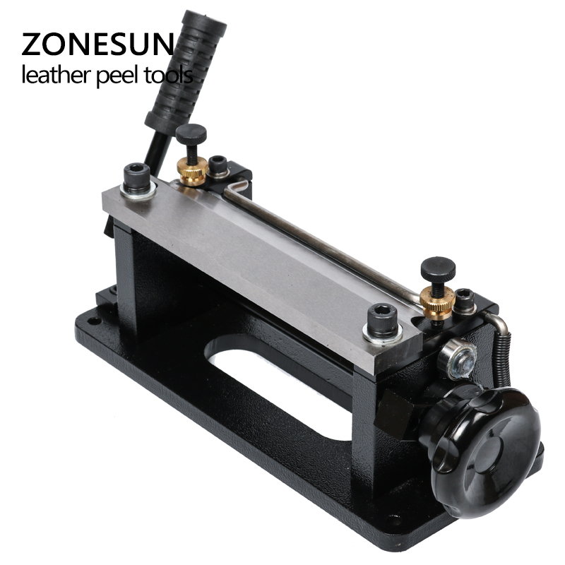 ZONESUN Leather Skiving Machine Strap Splitter Handle Peeling Machine Tools For Vegetable Tanned Leather DIY Shovel Skin Machine
