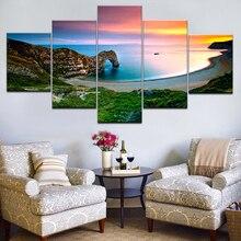 5 шт. печать в формате HD Картина на холсте натуральный пейзаж Юрского моря дюрдл двери художественная группа домашний декоративный плакат на стену Модульная картина