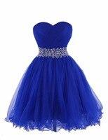 Линия с сердцеобразным вырезом и расшитый блестками плиссированные выше колена мини платья на выпускной вечер короткое платье для вечерин
