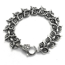 New Arrivals Gift Unisex 316L Stainless Steel Cool Silver Owl Link Bracelet PUNK Gothic Style Most Popular