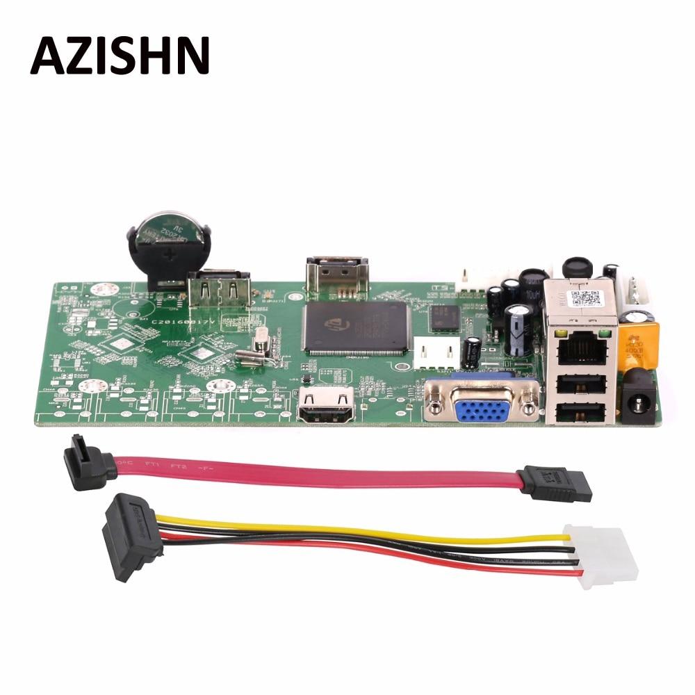 AZISHN FULL HD 16CH 1080P/4CH 5MP NVR Main Board Network Video Recorder Onvif P2P Cloud XMEYE CMS Motion Detection NBD7816R-F-V2