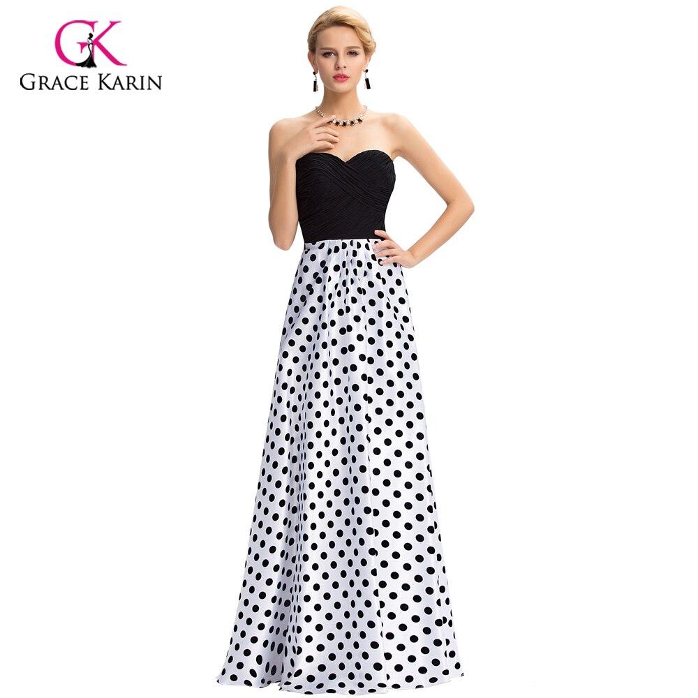 Black and White Polka Dot Formal Dresses | Dress images