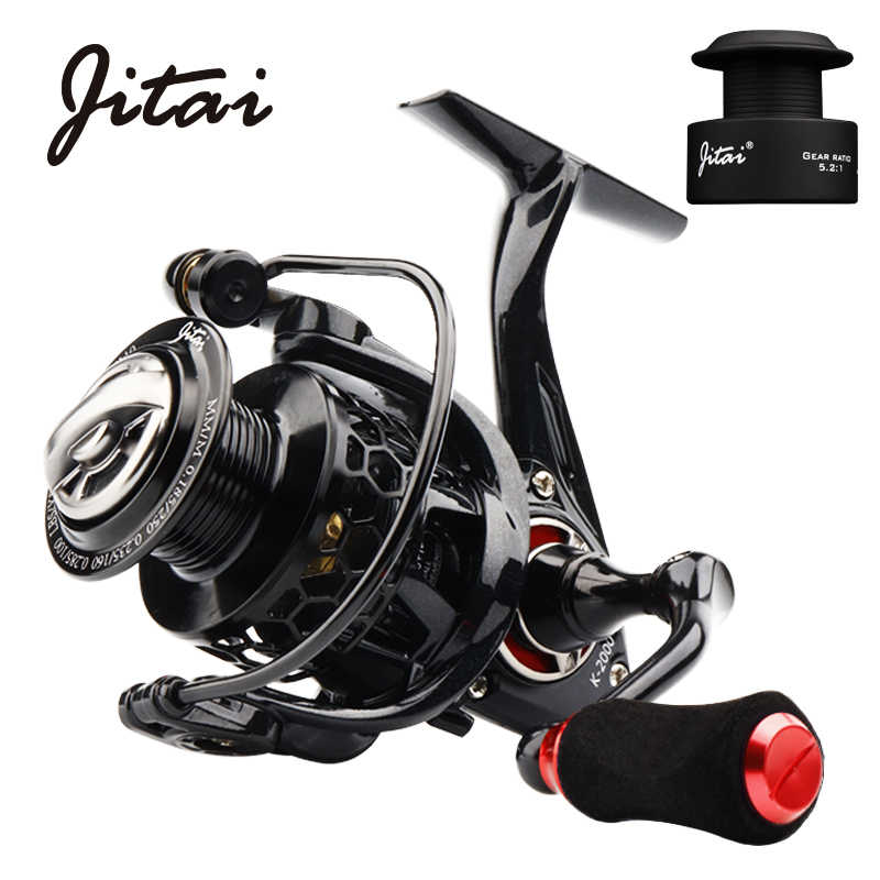 JITAI Spinning Reel with Free Spool Lightweight CNC Aluminum Spool 10+1BBs Coil Saltwater Wheels Carp Fishing Reels Carretilha